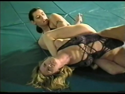 Naked women submission wrestling