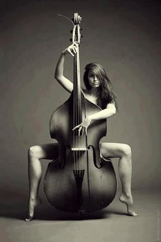 Naked girls with instruments