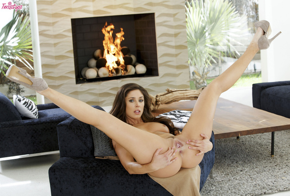 Naked girl with sexy high heels
