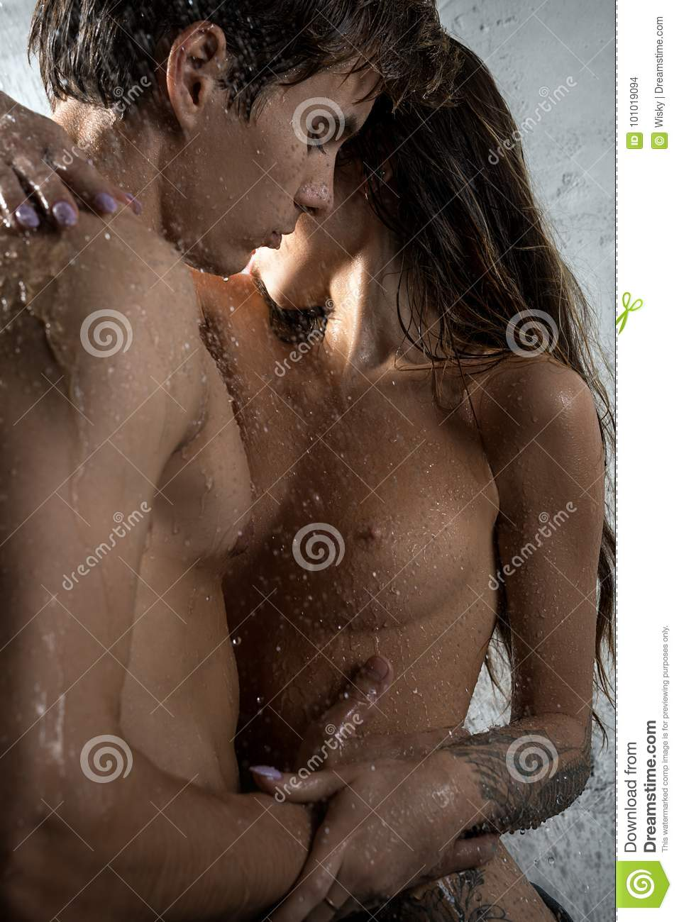 Photos of nude couples showering